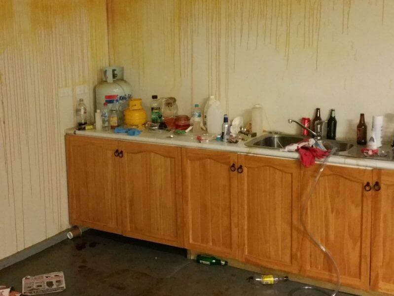 Photo inside of a meth lab